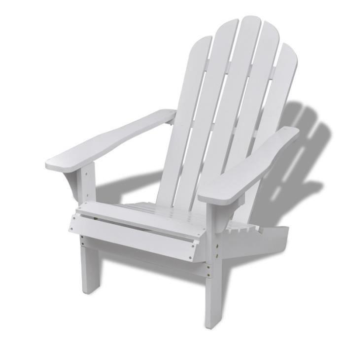 Chaise de salon jardin en bois blanche chaise relaxation ...