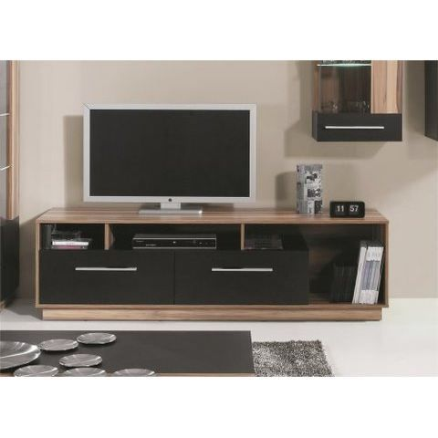 Meuble tv design black achat vente meuble tv meuble tv for Meuble tv dimension