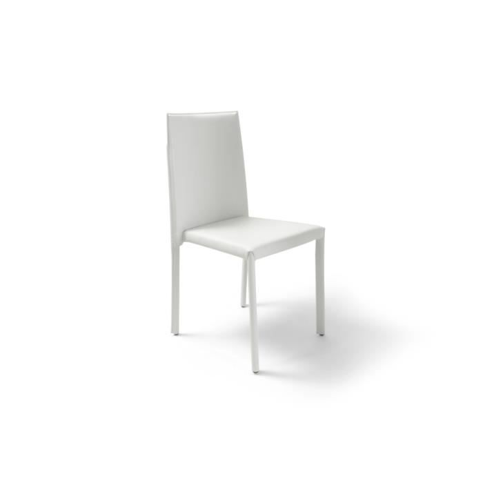 Chaise contemporaine empilable tika blanc achat vente chaise soldes d t cdiscount Chaises contemporaine
