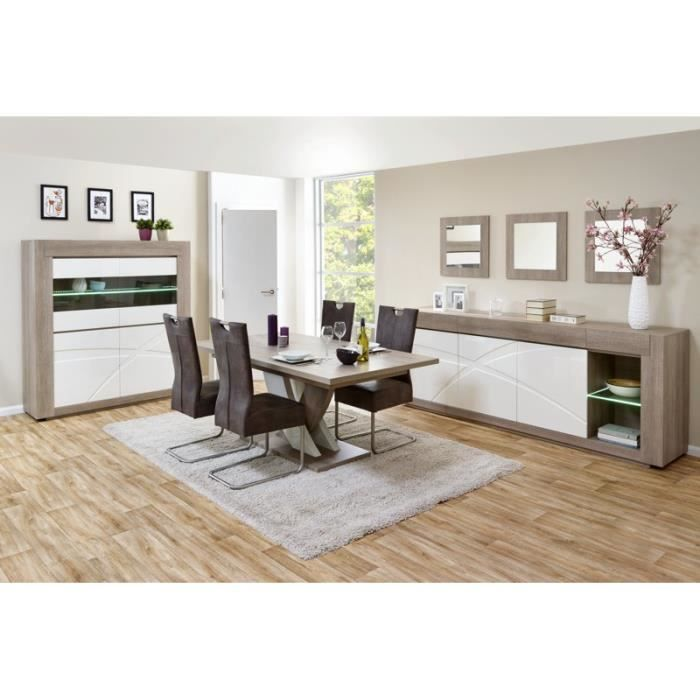 Salle manger compl te val 1 avec 4 chaises table l for Salle a manger one cap