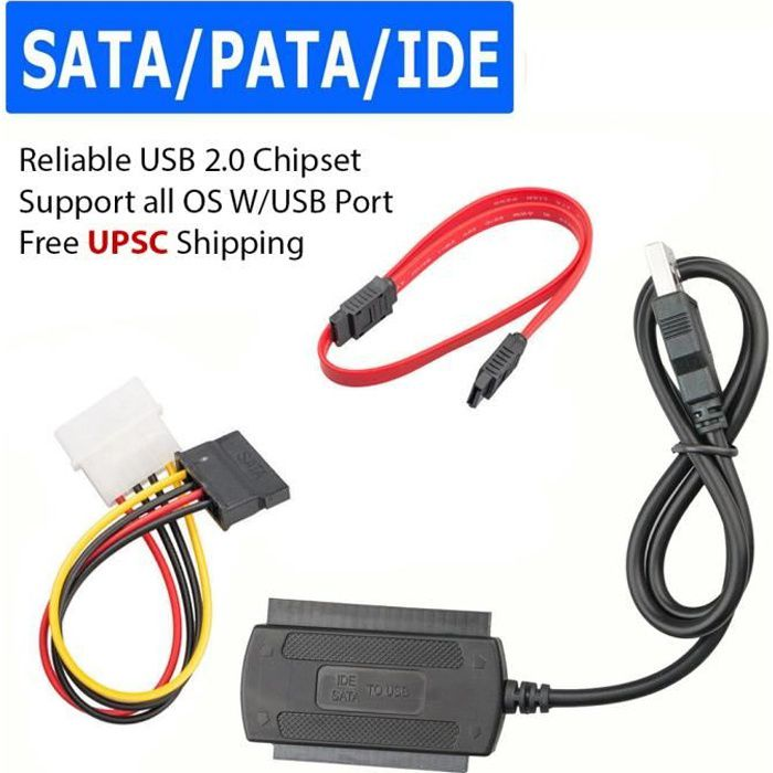 CÂBLE INFORMATIQUE Câble convertisseur adaptateur SATA - PATA - IDE v