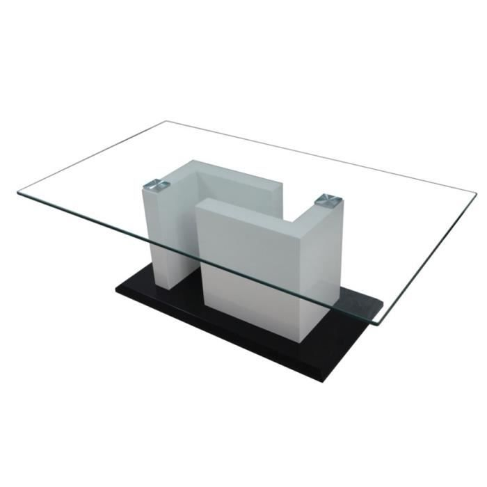 Table Basse Design Noir Blanc Laqu Initial Achat Vente Table Basse Table Basse Design