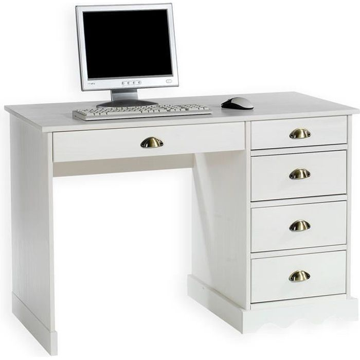 bureau blanc avec rangement achat vente bureau blanc. Black Bedroom Furniture Sets. Home Design Ideas