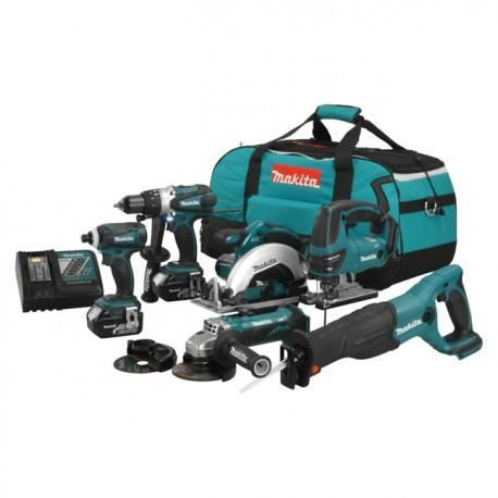 pack 6 outils makita dlx600m 18v 2 x 4 0 ah achat. Black Bedroom Furniture Sets. Home Design Ideas