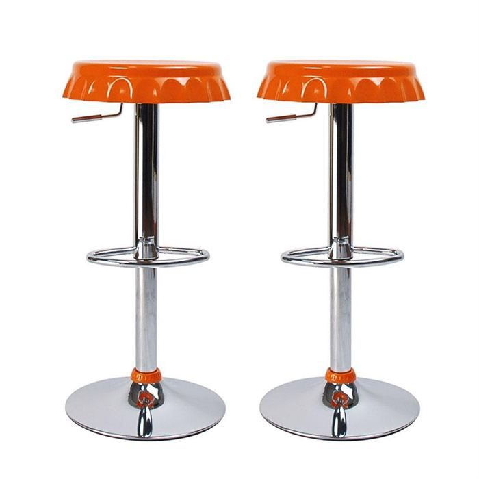 tabourets de bar orange capsule lot de 2 achat vente. Black Bedroom Furniture Sets. Home Design Ideas