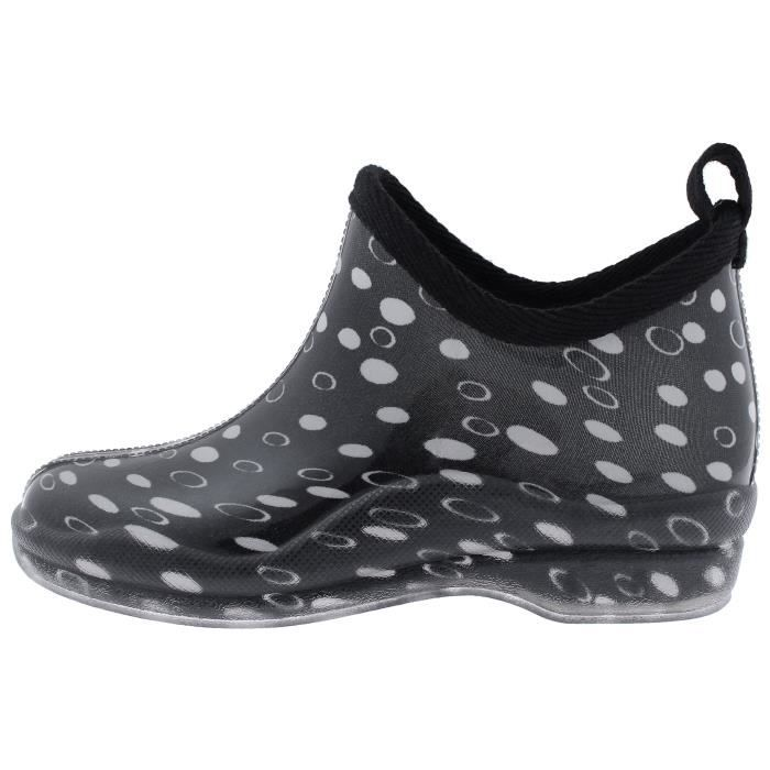Ladies Garden Printed Slip On Rain Boots N7ACM Taille-37