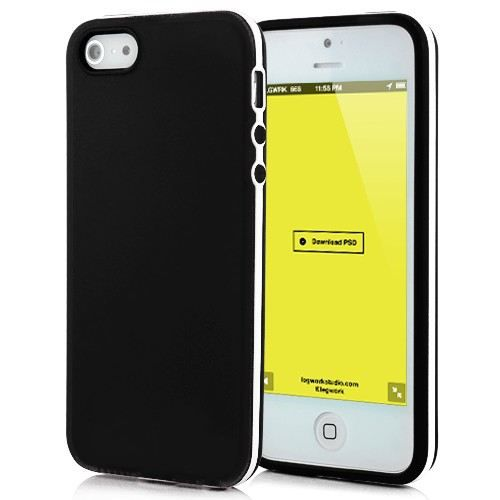 Housse iphone 5 tpu noire et blanche achat vente for Housse iphone x