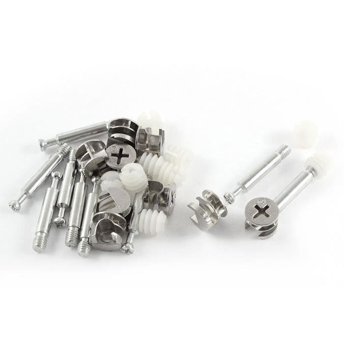 10 X Came pré-inséré écrous plastique blanc M6 x 10.5 mm