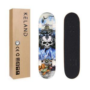 20CM Fuxiang Skateboard Adulte Complet Bois Planche de Skate Skateboard D/ébutant Skate Concave Planche de Skate Anti-D/érapant Roues PU pour Les Enfants Jeunes et Adultes 80