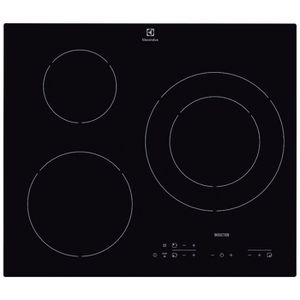 ELECTROLUX E6113HIK Table de cuisson Induction - 3 zones - 7200W - L56 x P49cm - Rev?tement verre - Noir