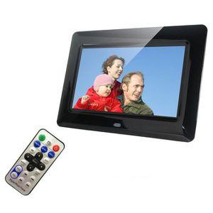 CADRE PHOTO NUMÉRIQUE 7 pouces HD LCD cadre photo numérique avec réveil