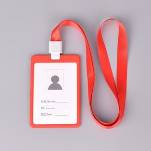 PORTE BADGE ROUGE Etui Porte Badge Carte Visite ID Travail Ide