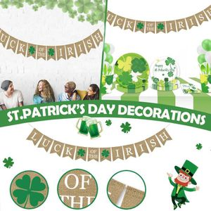 St Patrick Day Irlande Fête Set XL 50 pièces pour 8 invités Patrick Fête DECORATION