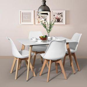 TABLE À MANGER SEULE Table à manger de 2 à 4 personnes Blanc + Pieds ca