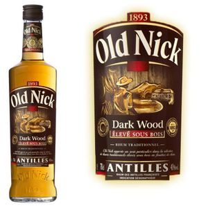 RHUM Rhum Dark Wood  Old Nick  40° 70cl