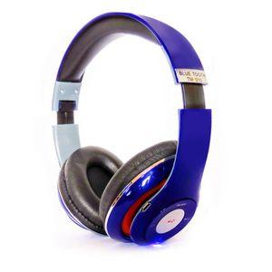 CASQUE - ÉCOUTEURS Casque Audio Bluetooth  Bleu- TM-010