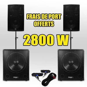 PACK SONO Pack 151512 Sonorisation 2800W Caisson bi-amplifié