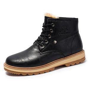 cuir Homme tige Chaussures à fourrées Bottes Chaussures doeCBx