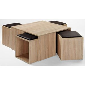 Sonoma table basse design achat vente sonoma table for Table basse chene clair pas cher
