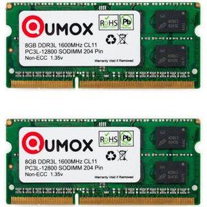 MÉMOIRE RAM QUMOX 16Go (2x 8Go) 1600MHz DDR3 DDR3L PC3-12800 -