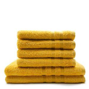 SERVIETTES DE BAIN TODAY Lot de 4 Serviettes de bain 50 x 100 cm + 2