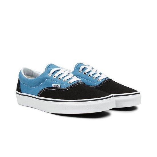 vans bleu noir