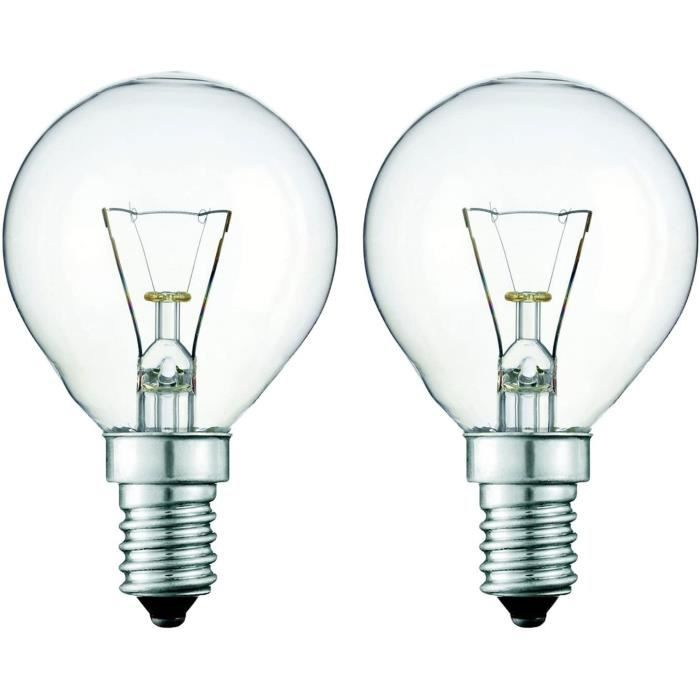 2 x 40 Watts 240 V 300° Chaleur Résistant Four Lampe pour Usage En Belkin Four.