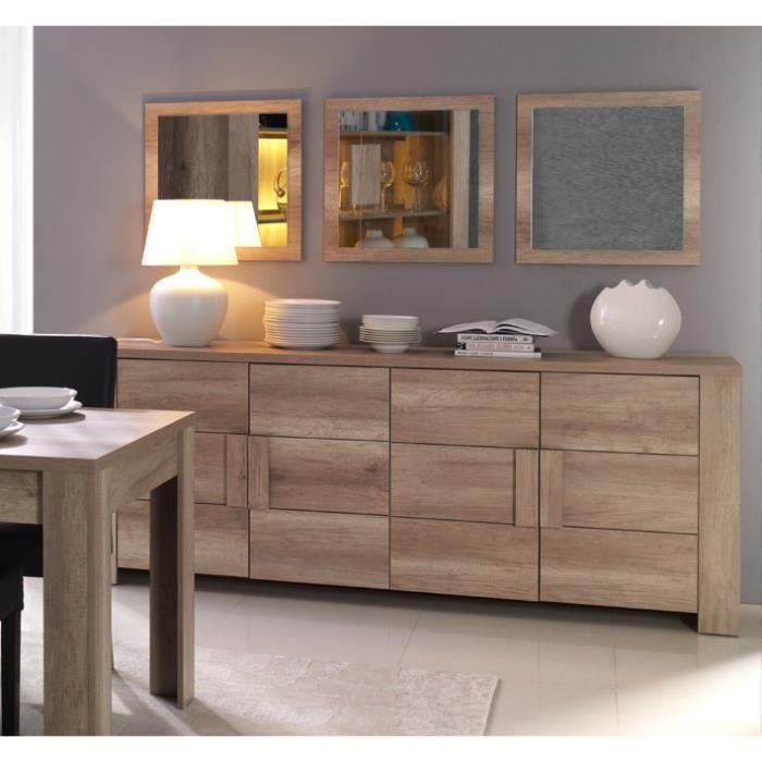 Buffet, bahut, enfilade moyen modèle FERRARA 4 portes. Meuble design et tendance pour votre salon ou salle à manger