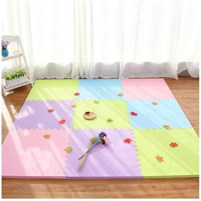 Puzzles de sol WAJIEFD Tapis Mousse Enfant Tapis d'exercice Verrouillage Imperméables Carrelage Sol Salle Bain Décorati 319967