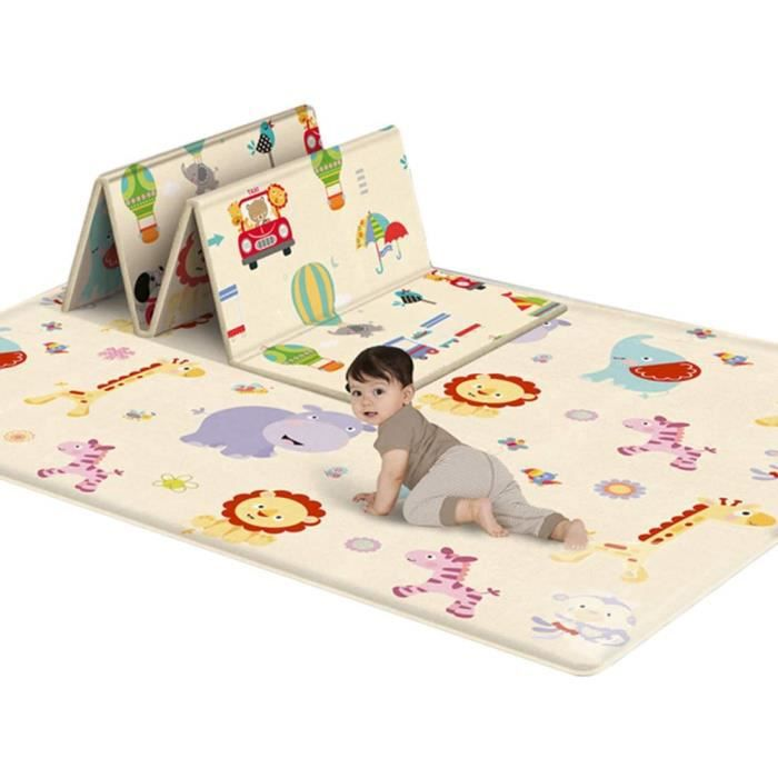 Tapis épais et doux pour bébé ,180x150X0.5cm,Tapis de jeu pliable en mousse XPE,Tapis antidérapant