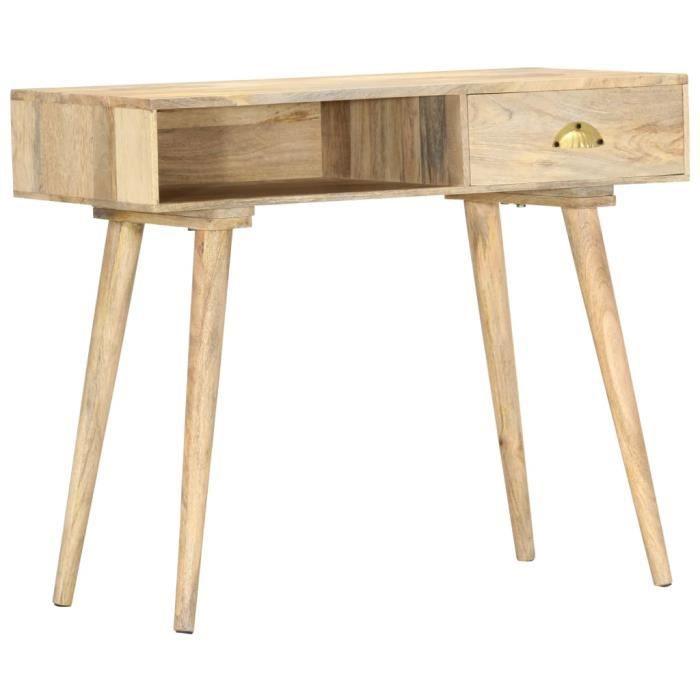 ❤Moderne Table console Mode - Table de Salon Armoire console 90x45x75 cm Bois de manguier massif ��67602