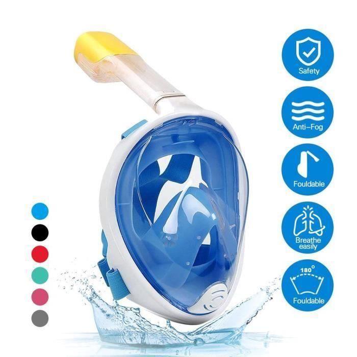 OXOQO Masque de plongée go pro complet taille L BLEU HB954