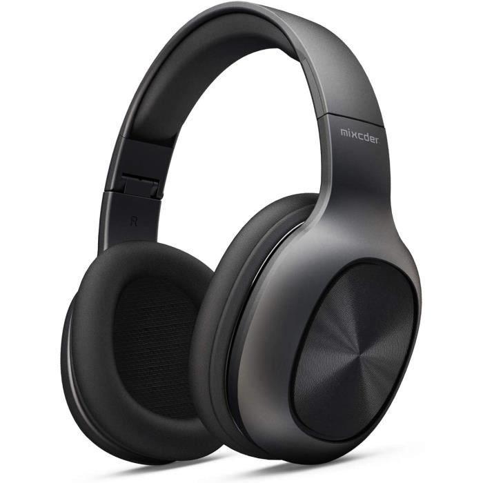 Mixcder Casque Bluetooth Circum avec Microphone Intégré Support TF SD Carte - Lecteur MP3, Over-ear Écouteurs Hi-Fi Stéréo Auriculai