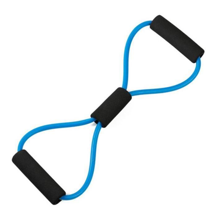 4 cordes de traction élastiques de résistance bande de résistance de rameur d'exercice bandes élastiques d JS4885