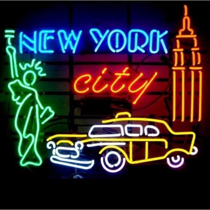 néon publicitaire new york city statue liberté diner loft us