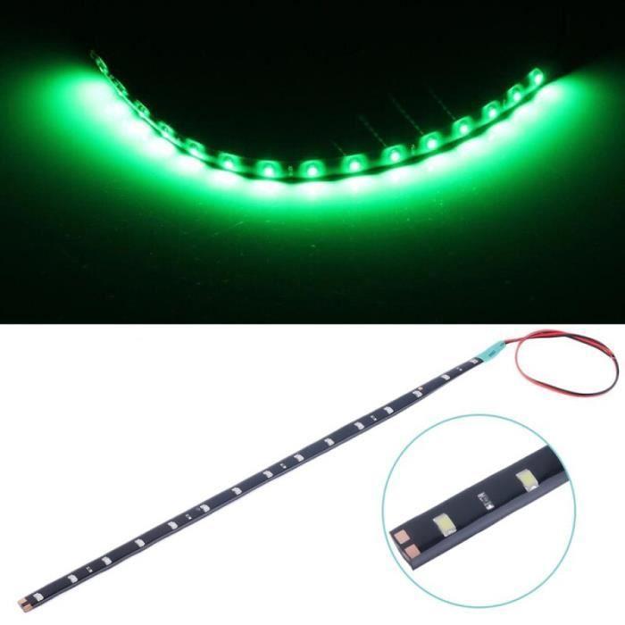 la couleur verte Bande Lumineuse LED 12v 6000K, Flexible, Étanche, Lampe Antichoc, Grère Lumineuse Décorative