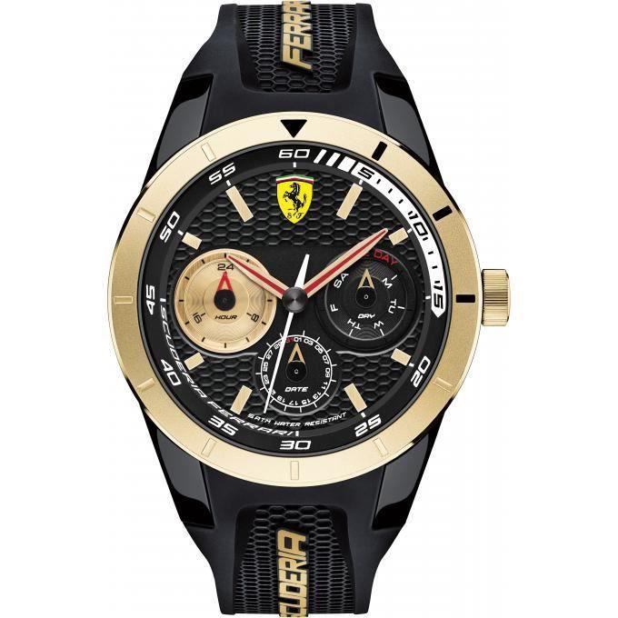 montre ferrari montres 0830380 - montre silicone noir dateur homme