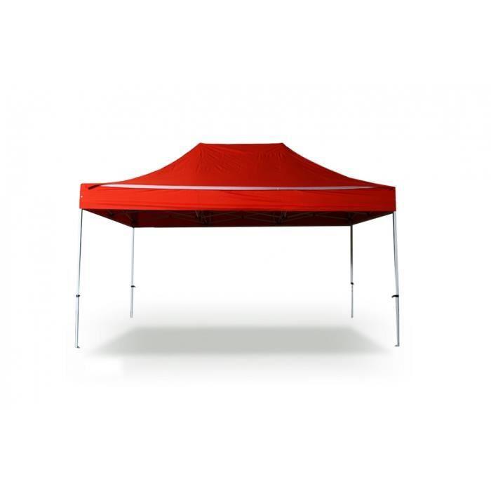 Tente pliante Barnum Tonnelle 3x4.5m polyester 300g/m² pelliculé PVC tube aluminium 40mm hexagonal Montage minute