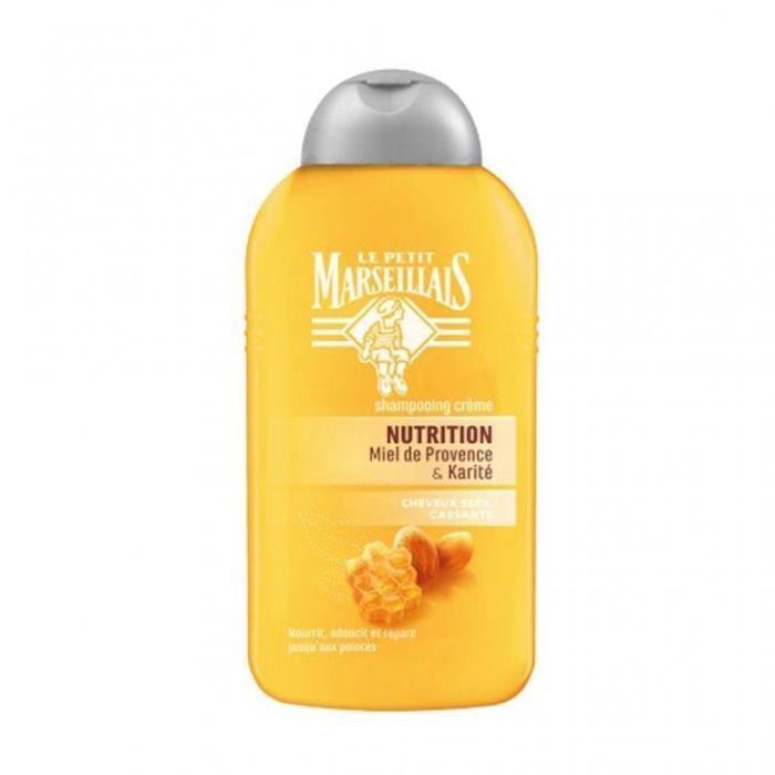 Le Petit Marseillais Shampooing Crème Nutrition Miel de Provence & Karité 250ml (lot de 4)