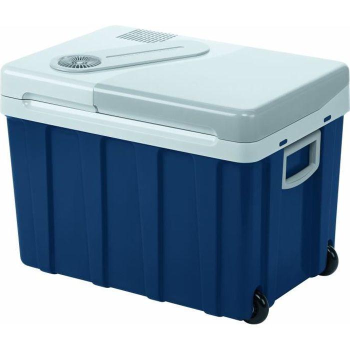 MOBICOOL W40ACDC Glacière électrique portable équipée de roulettes , 39L, 12-24V-230V, 18°C en dessous de la température ambiante