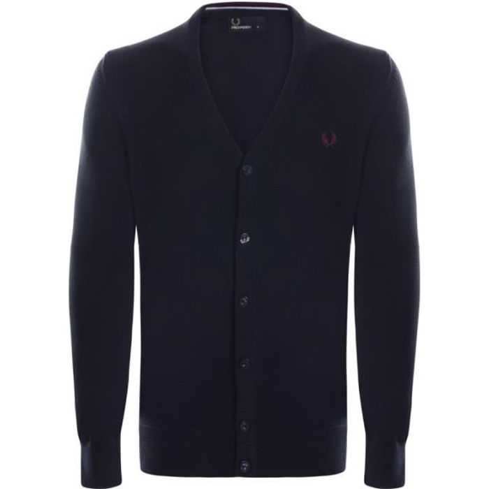 Fred Perry Homme Cardigan Noir