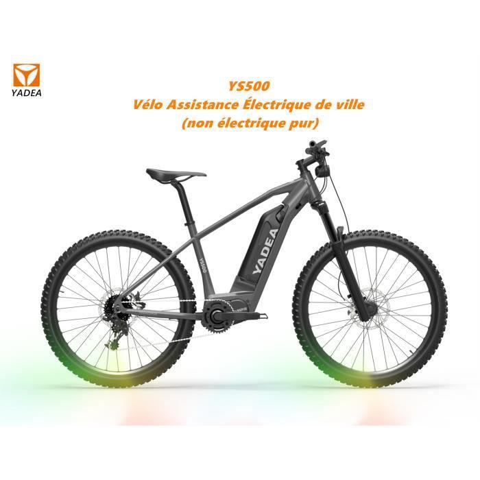 2021 YADEA Vélo Assistance Électrique - Vélo Électrique De Randonnée - 27.5-E-bike -350W -SHIMANO Nine speed (Gris)