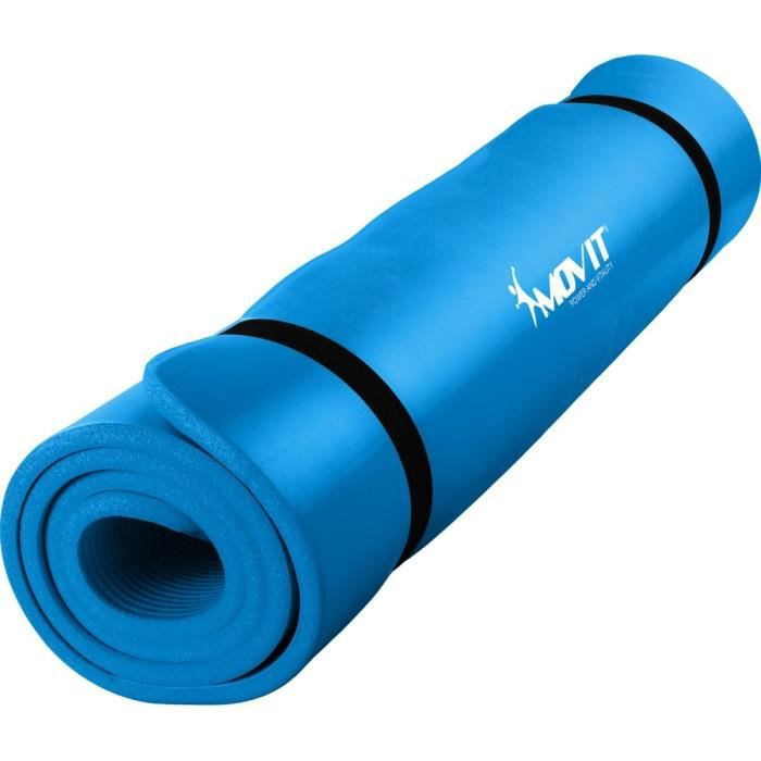 MOVIT Tapis de gymnastique XXL 190cm x 100cm x 1,5cm, bleu