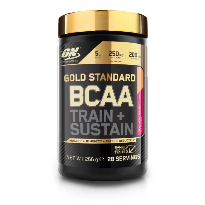 OPTIMUM NUTRITION Pot BCAA Train & Sustain Pêche / Passion - 266 gr