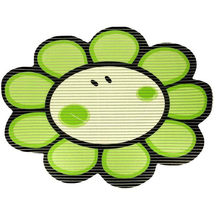 Tapis De Baignoire Cuisine Antidérapant Design Fleur Vert