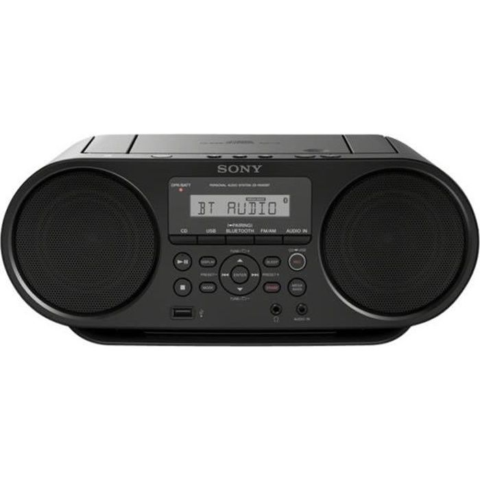 SONY ZSRS60BT - Boombox bluetooth - Lecture USB - Fonction mega bass - Noir