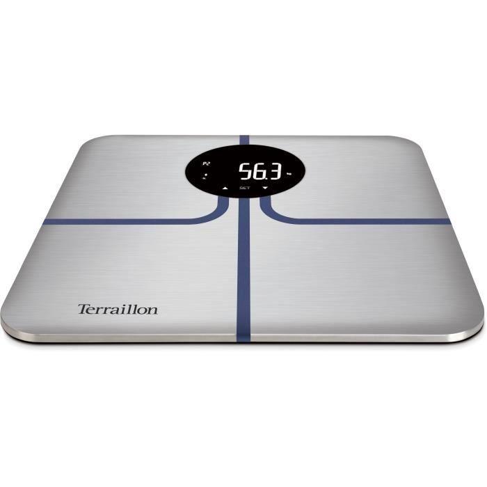 TERRAILLON 14246 R-COACH Pèse personne impédancemètre - Gris métal & bleu