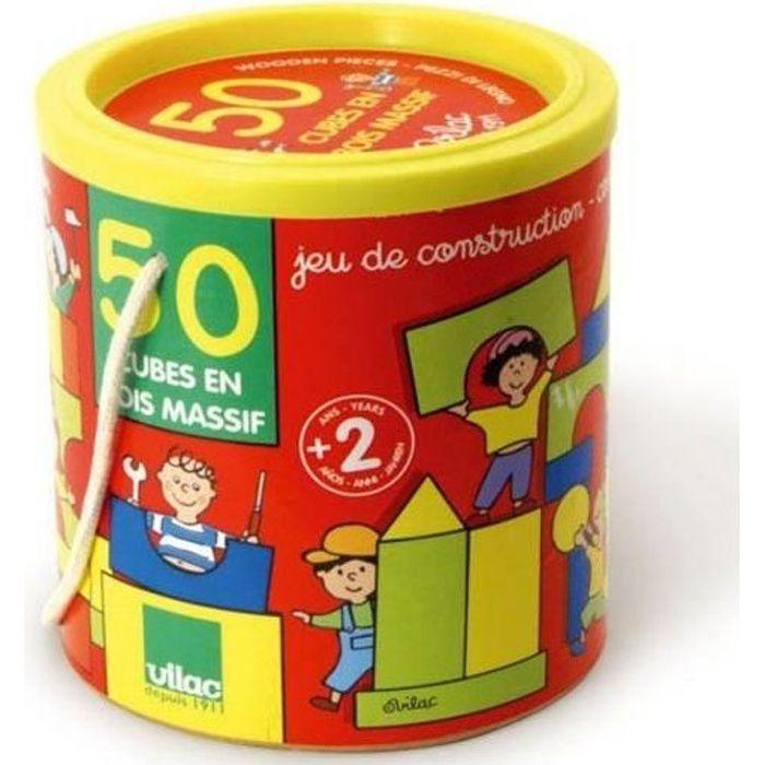 VILAC Batibloc 50 Cubes En Bois