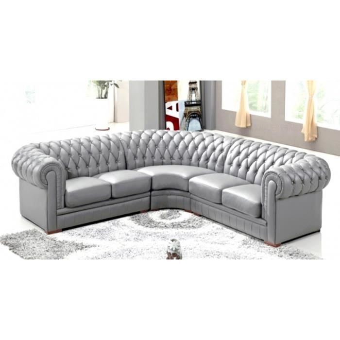 canape chesterfield gris pas cher. Black Bedroom Furniture Sets. Home Design Ideas