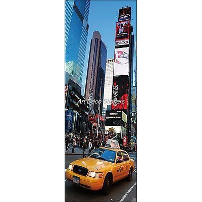 Affiche poster porte d co trompe l oeil new york taxi r f for Decoration porte new york